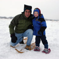 Snowshoeing with kids