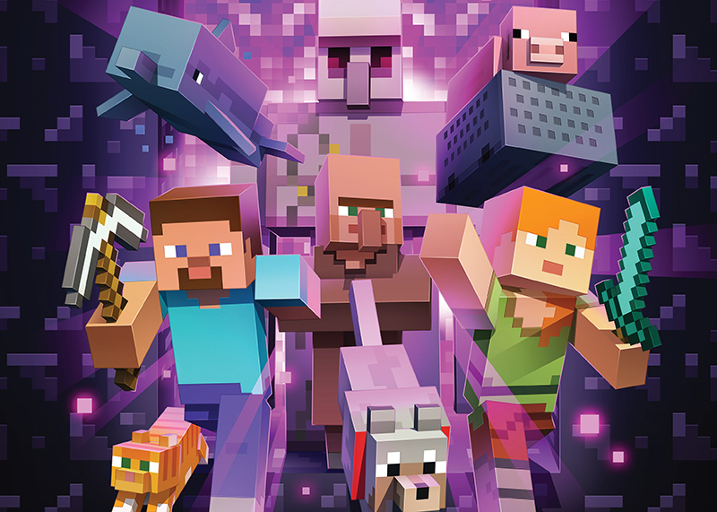 """weekend picks: poster from """"MInecraft: the Exhibition"""""""