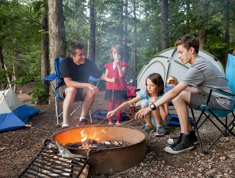 celebrate autumn family roasting smores