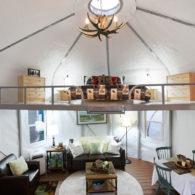 camping in a yurt