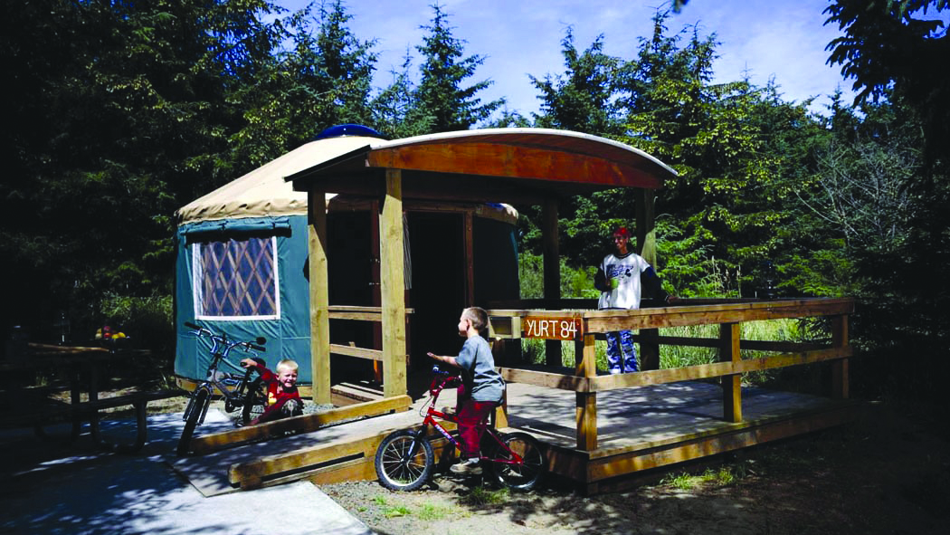 State Parks: Yurt in Cape Disappointment State Park