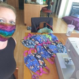 Sewing masks: picture of Amy Bet