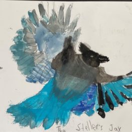 child drawing of bird