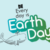 "logo for SPL reading program ""Every Day is Earth Day"""