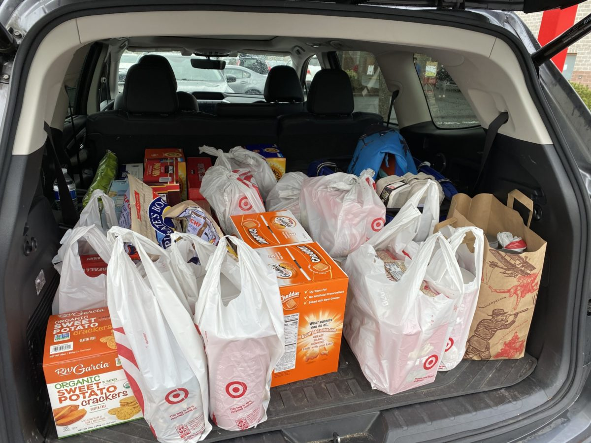 Food banks: A station wagon full of donations to help families fight hunger.