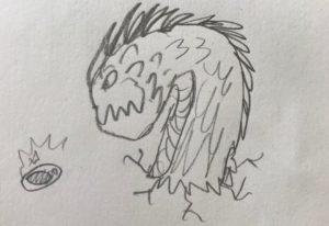 artwork of creature
