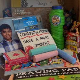 box of summer-fun items
