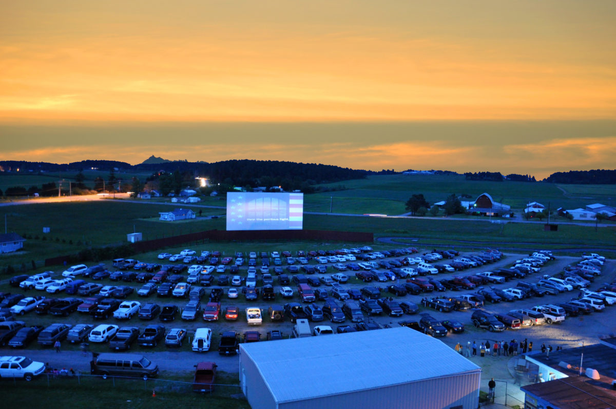 Drive-in movies: The Blue Fox Drive-in at Sunset Fox