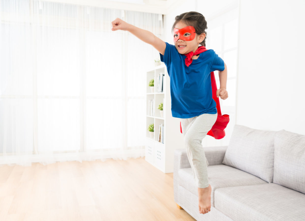 stay-at-home picks; superhero workout