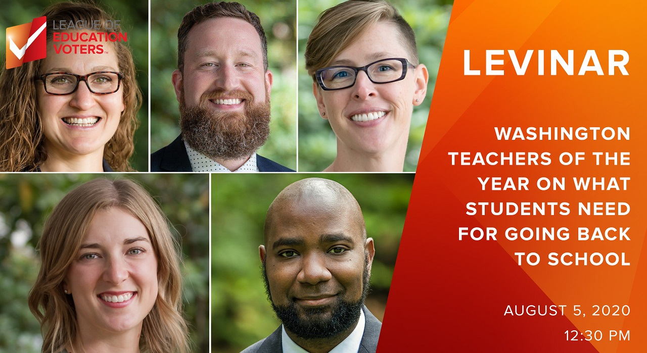 Teachers of the year: Washington Teachers of the Year give a free webinar on Wednesday