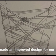 """Weekend picks! Spider in a web, with caption """"We also made an improved design for our first web!"""