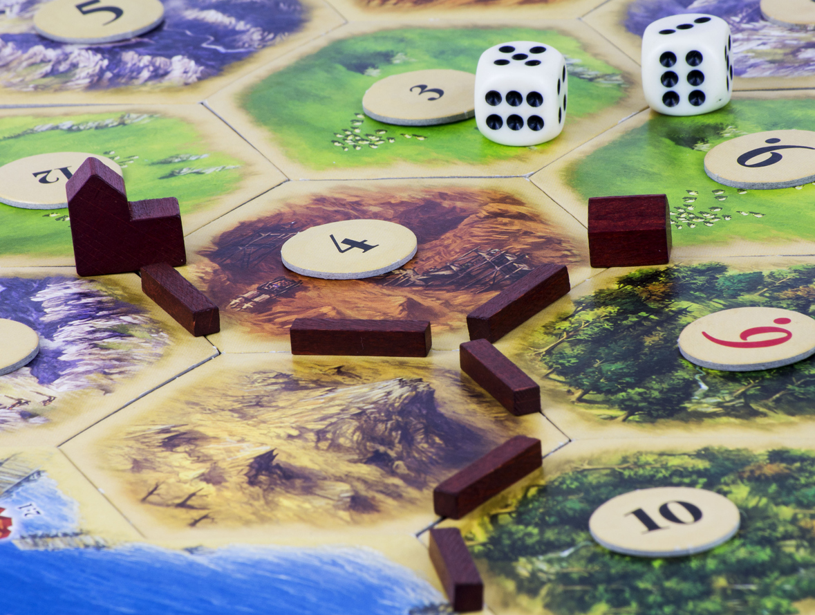 Games: the board of Settlers of Catan