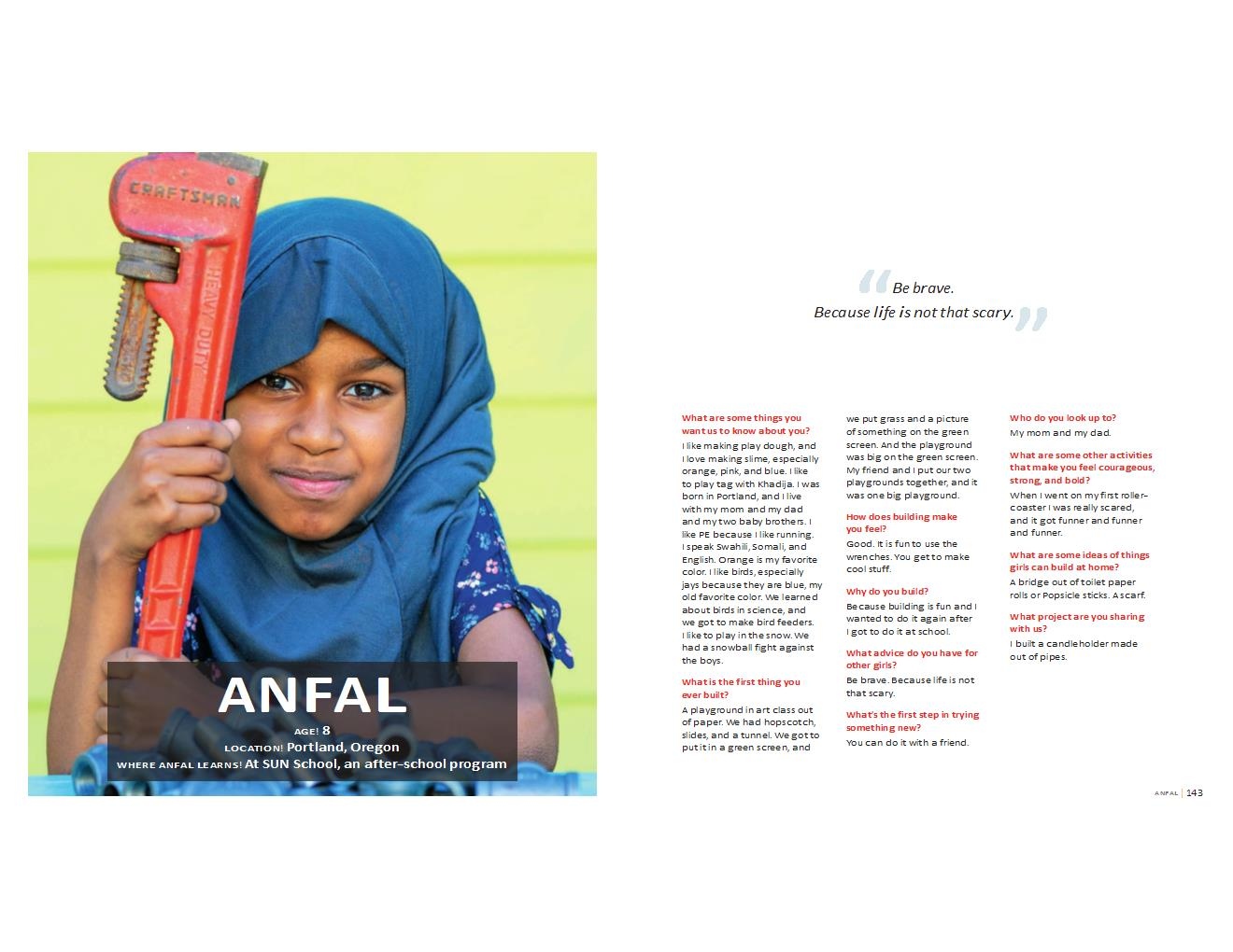 Anfal's profile / girls building