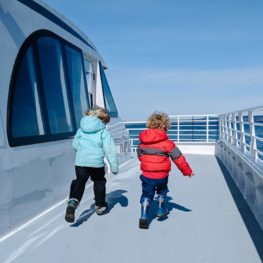 Family whale-watching trip