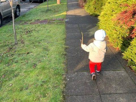 toddler walks
