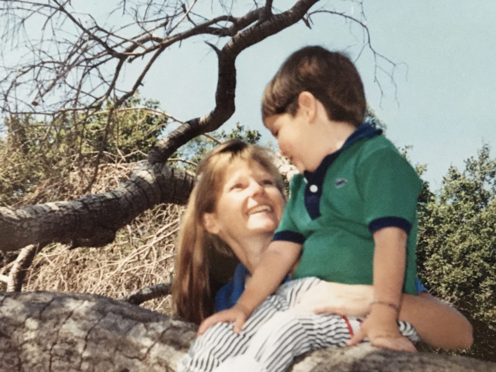 Crossing the River / author Carol Smith with her son