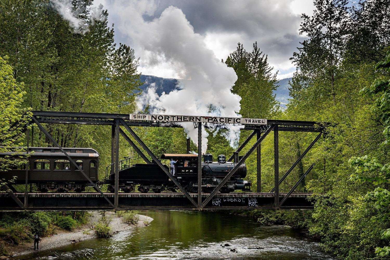 Northwest Railway Museum steam train ride