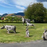 Joe Treat's lawn sculptures