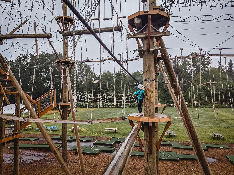 High trek ropes course