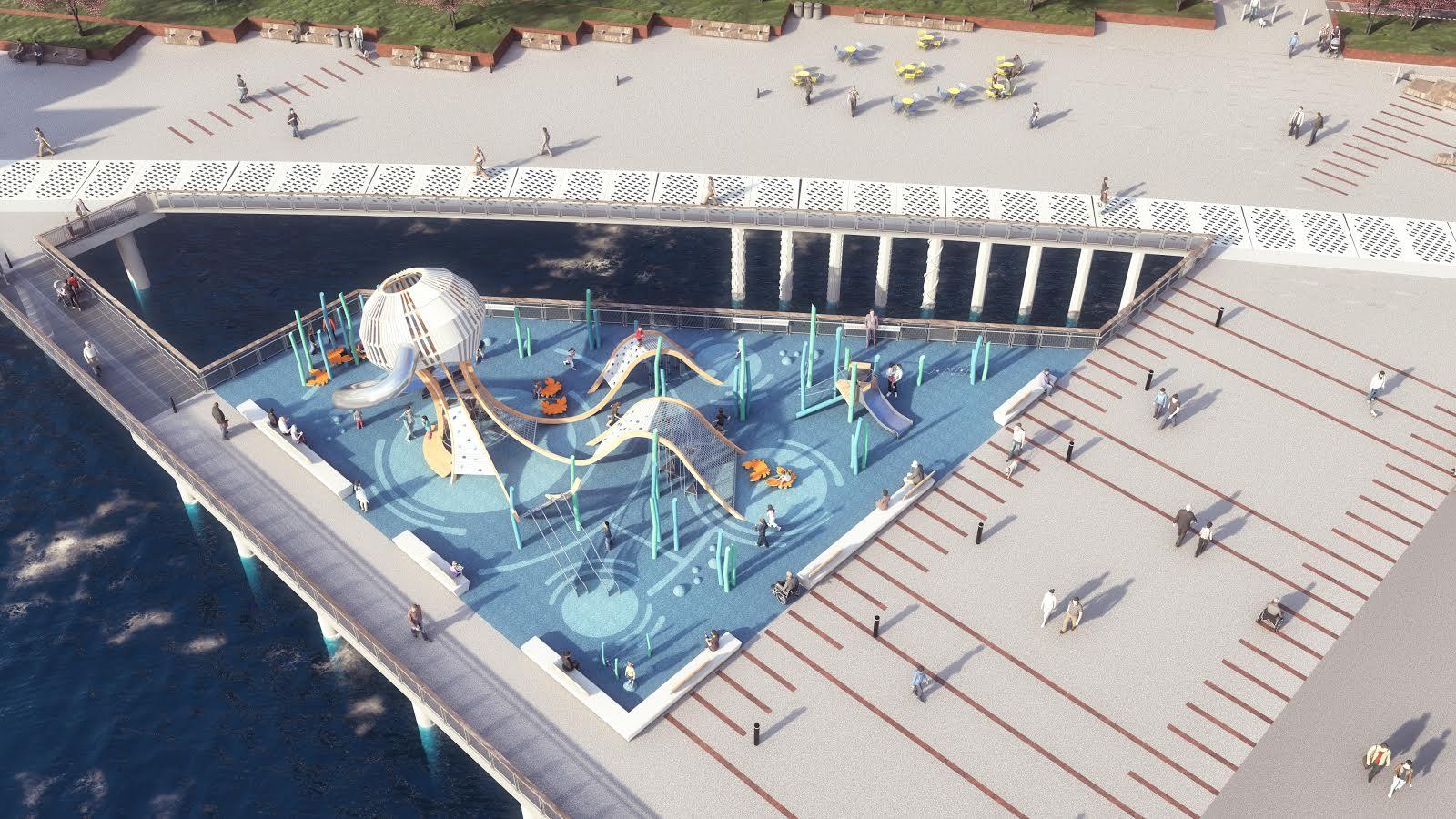 Waterfront playground